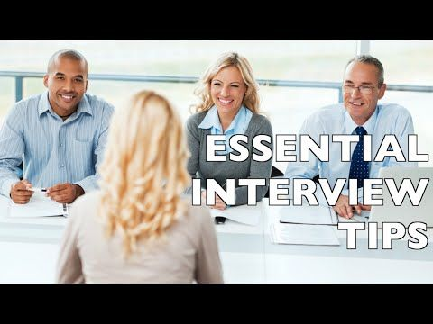 9 Essential Job Interview Tips - Job Interview Questions and Answers! -  YouTube