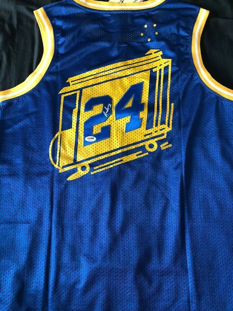 online retailer d8622 43646 RICK BARRY Autograph Signed Golden State Warriors Throwback ...