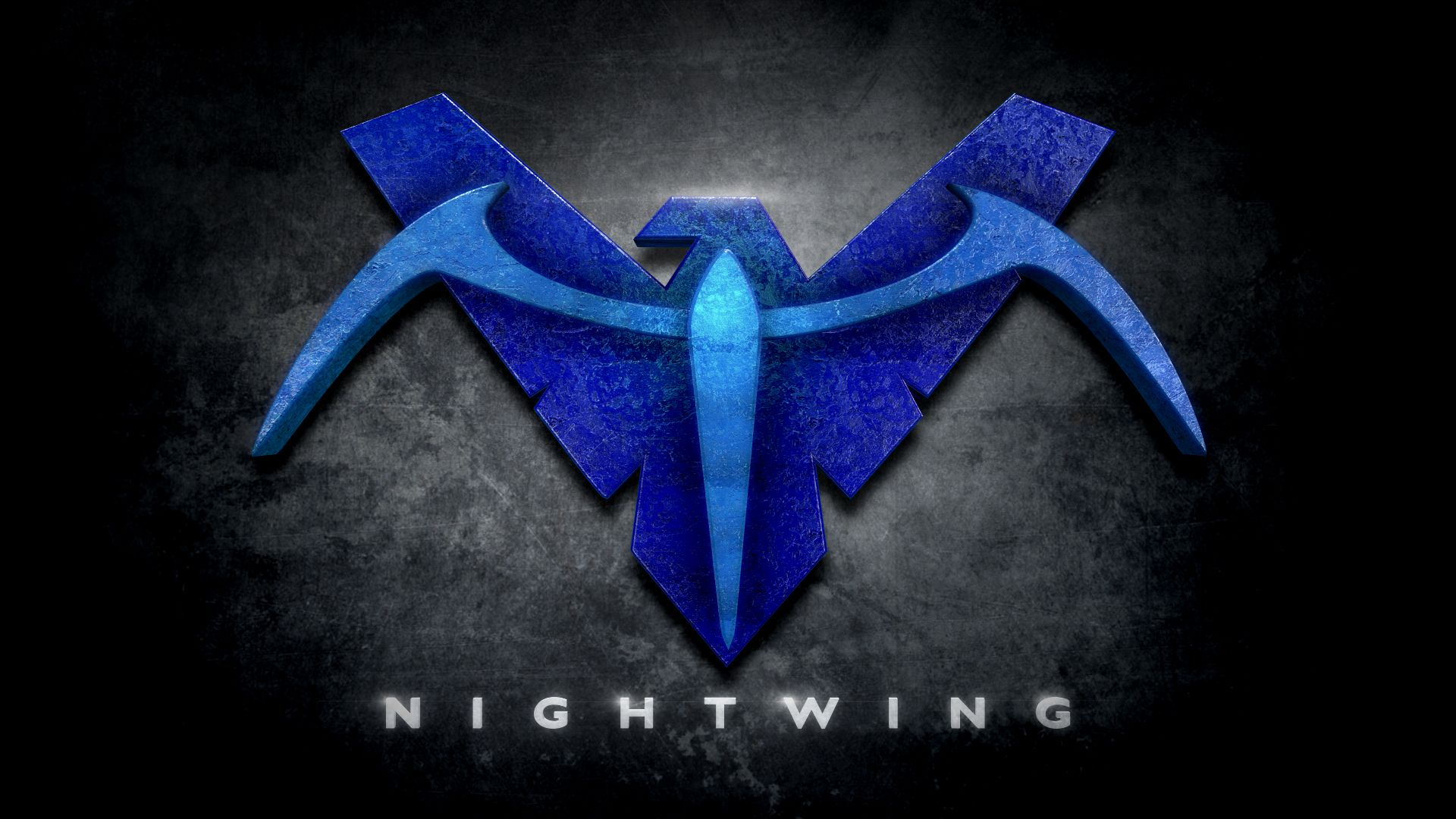 Nightwing In The Style Of Man Of Steel Http Www Redbubble Com People Bigrockdj Works 11344192 Nightwi Nightwing Dc Comics Logo Batman Superman Wonder Woman