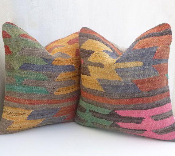 Pair of Original Kilim cushion covers