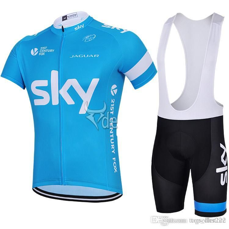 50% alennus saada uutta ostaa Team Sky New Arrival Cycling Jersey Sets Light Blue Road ...