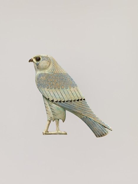 Late Period–Ptolemaic Period, 4th century B.C., Egypt, Middle Egypt, Hermopolis (el-Ashmunein) | This tile represents the falcon god Horus. As a god closely associated with kingship, the Horus hieroglyph appears prominently in the king's titularies, and may also - as it does in Dynasty 30 - appear in the king's particular names