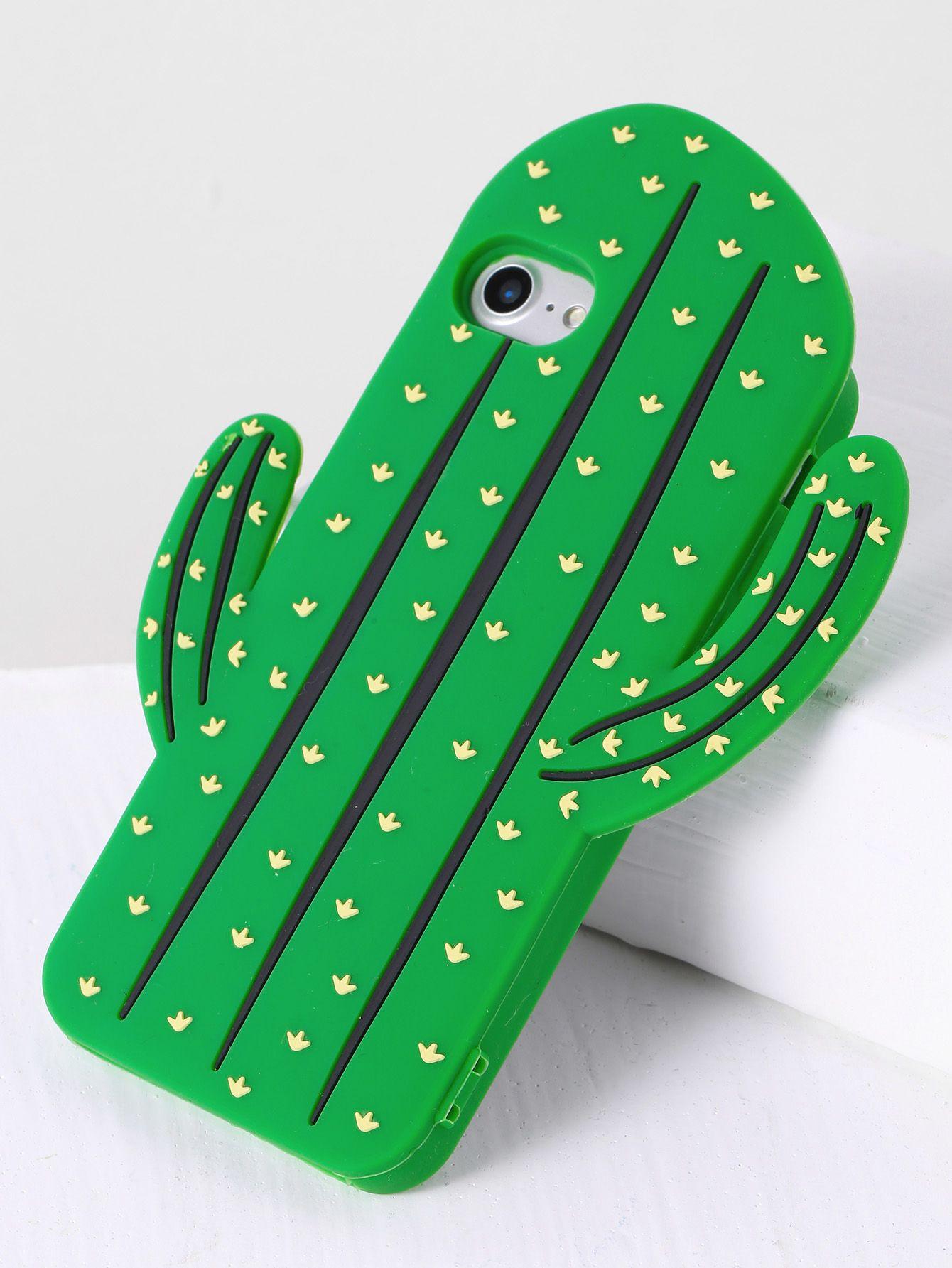 36facd5d24 Green Cactus Shape iPhone 7 Case -SheIn(Sheinside) | Faves | Iphone ...
