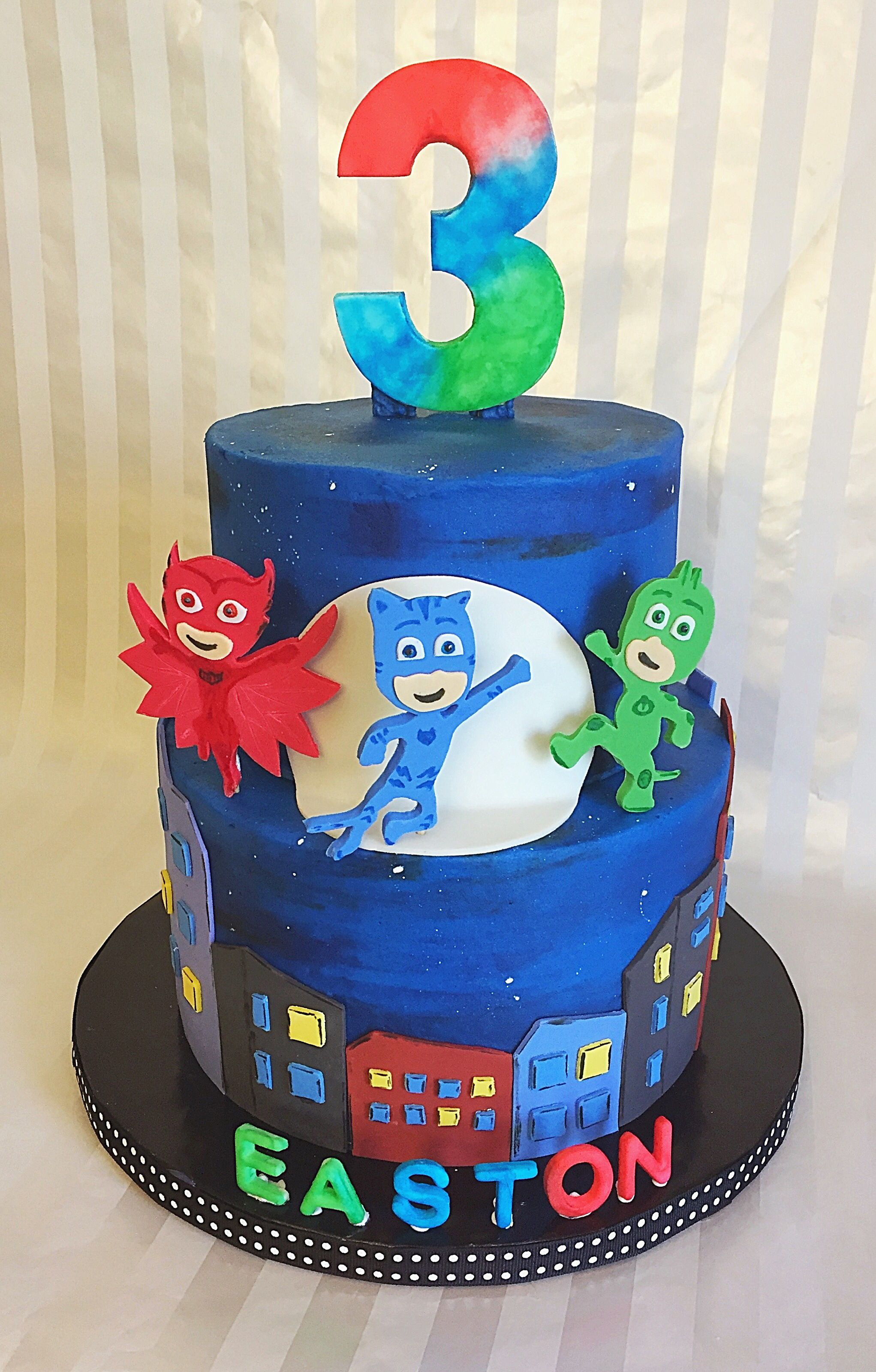 Pj Mask Birthday Cake Pj Masks Birthday Cake Cake Cake Decorating