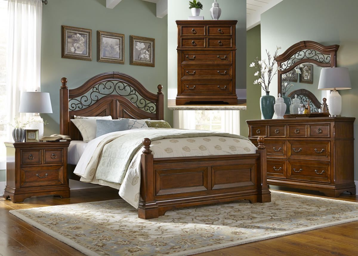 Liberty Chestnut 12 Piece Bedroom Suite French & English Dovetail