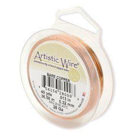 125-Yards Artistic Wire 34-Gauge Bare Copper Wire
