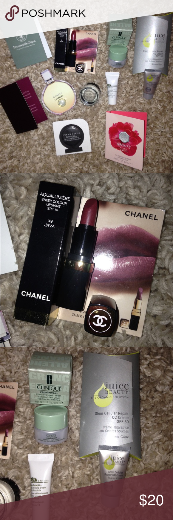 Cosmetic Lot Chanel, Clinique, Juice Beauty, Youthtopia & Perfume (3) Mini Vials. These are all Mini size products. Makeup