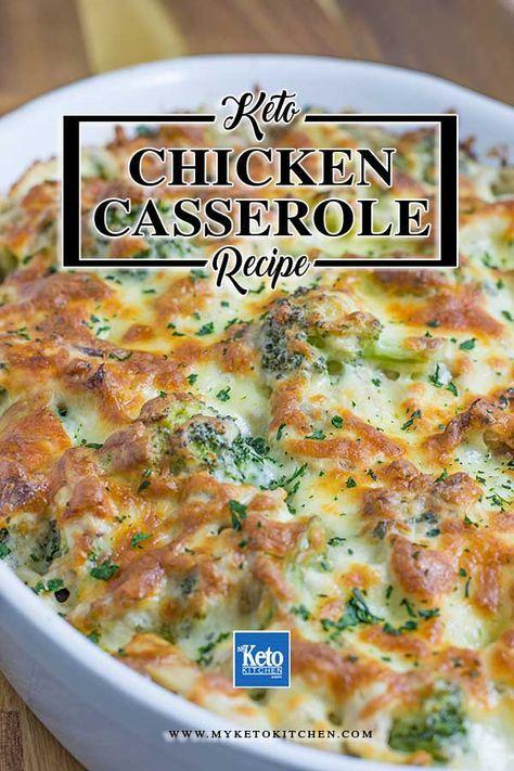 Keto Chicken Broccoli Casserole with Cheese Recipe