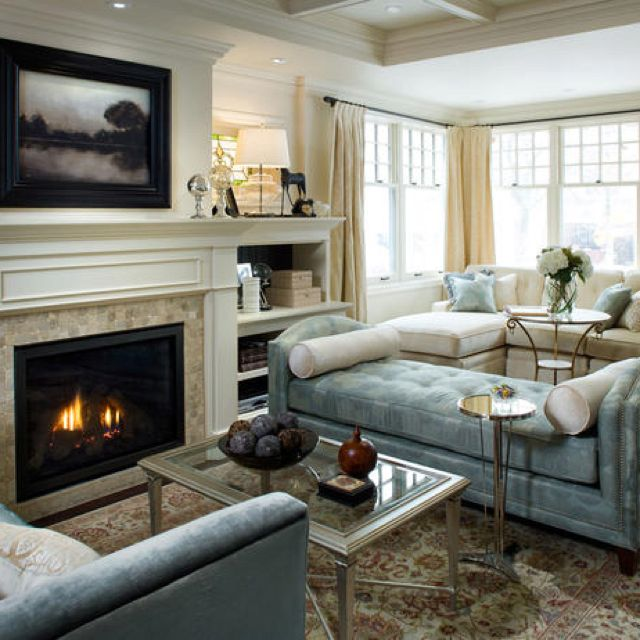 Candice Olson Traditional Living Rooms: Love The Fireplace With Hidden Tv Behind The Artwork