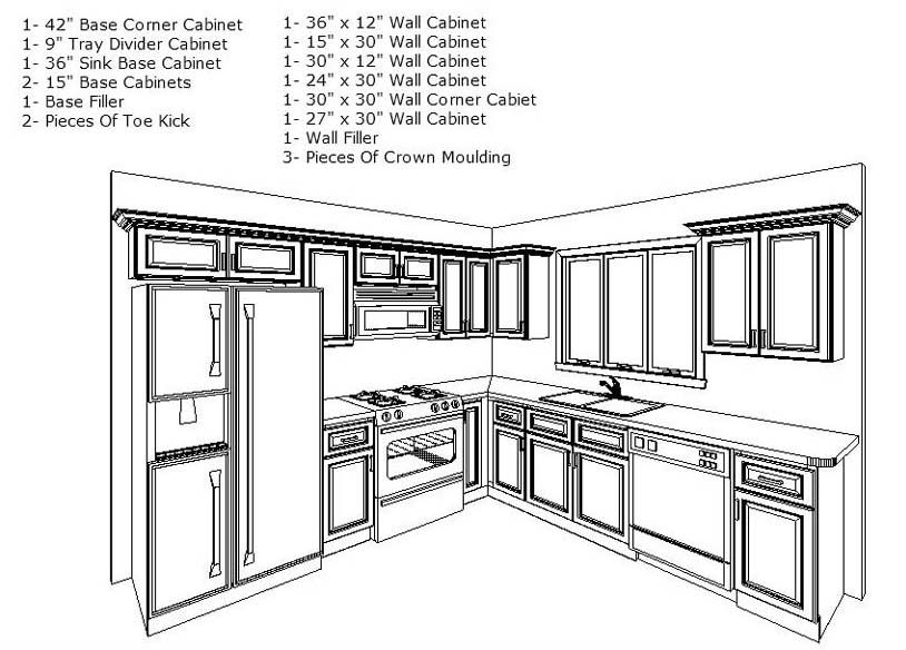 10 x 10 kitchen layout hgtv remodels remodel for Kitchen cabinet layout design