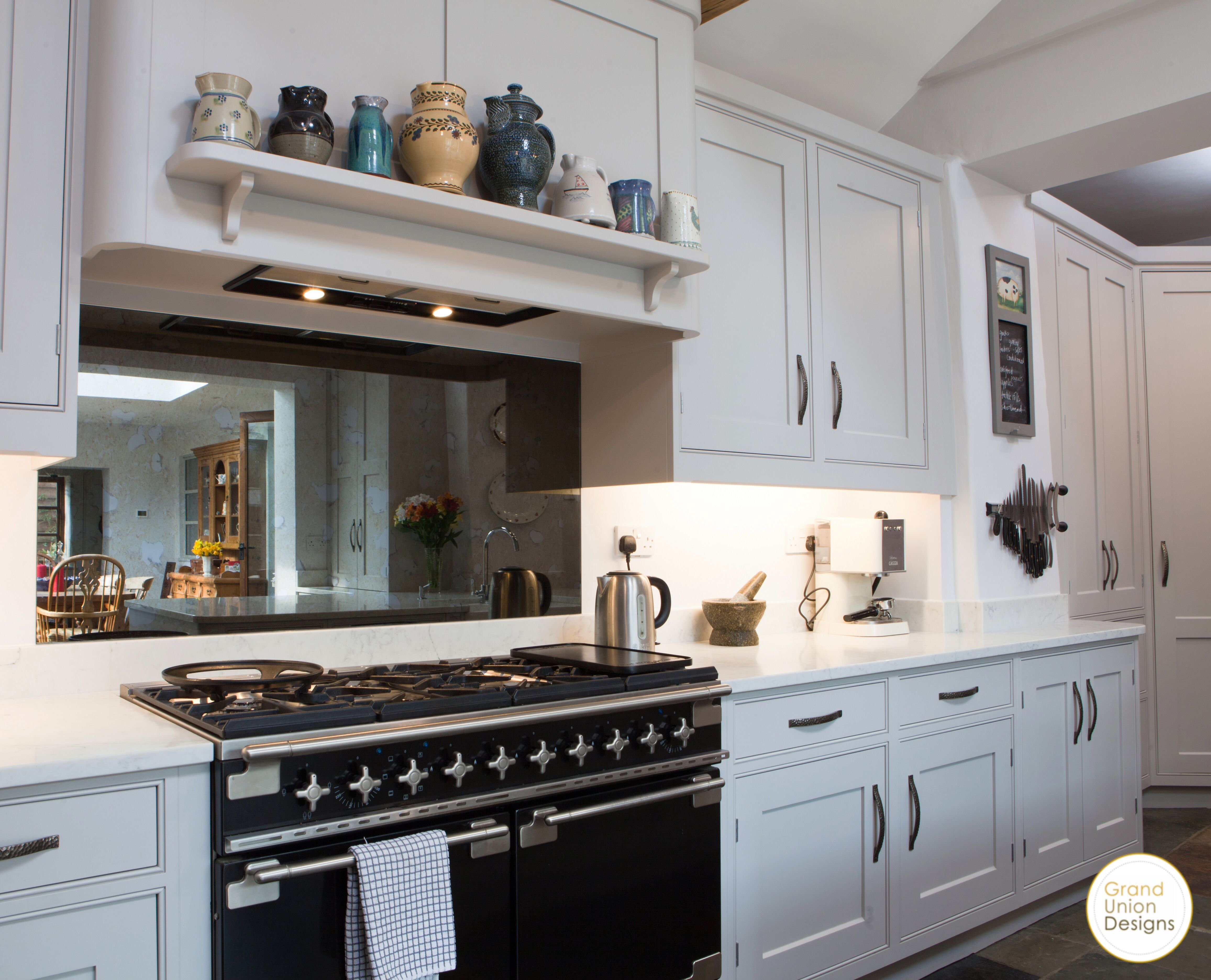 Painted kitchen in a North Buckinghamshire farm house. The