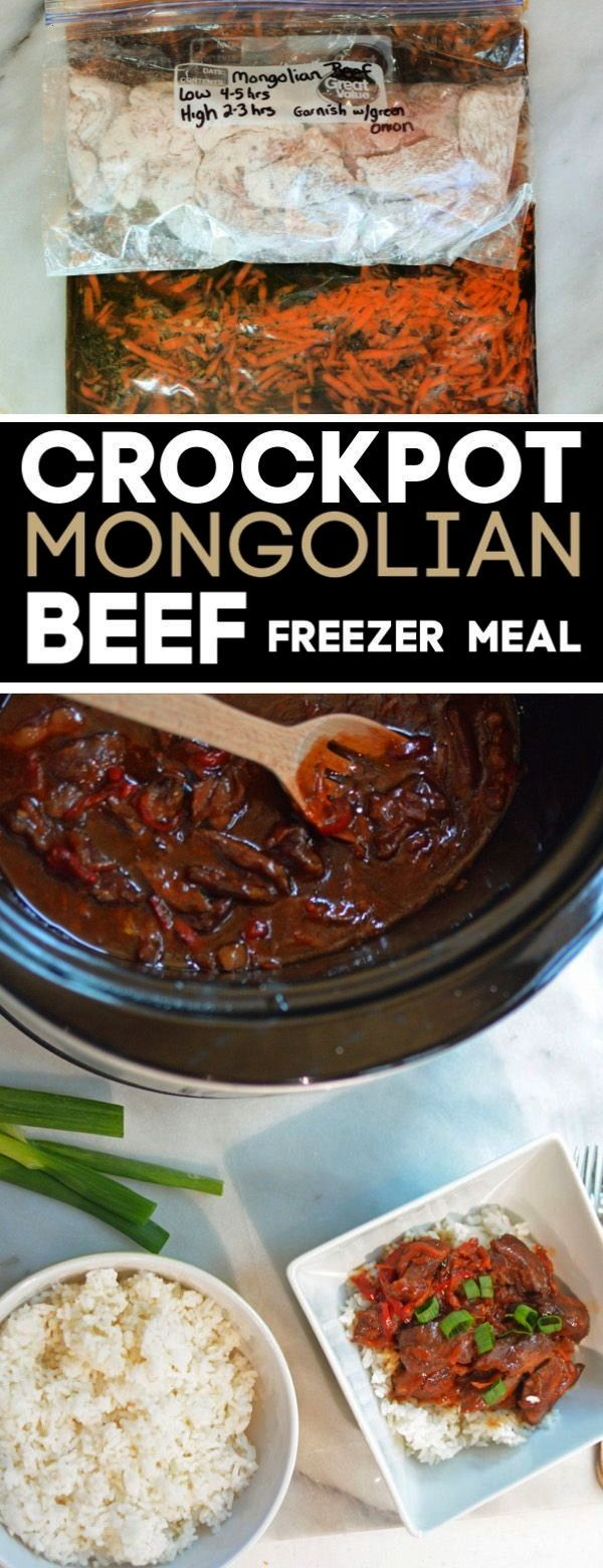 Pot Mongolian Beef Recipe -    Meal prep with this Mongolian beef freezer meal. Put all ingredients
