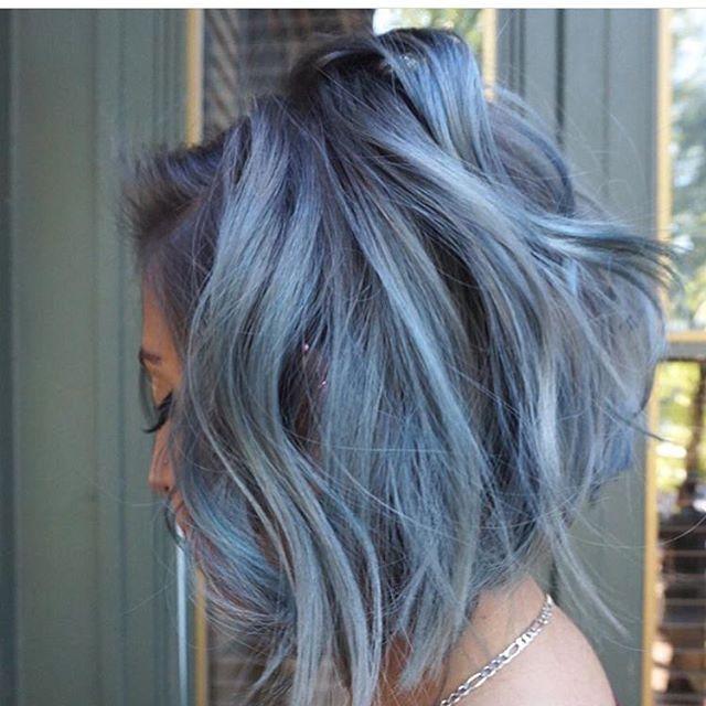 ・゚ Angrydinosaurx Hair Dye Denim Blue Hair Denim