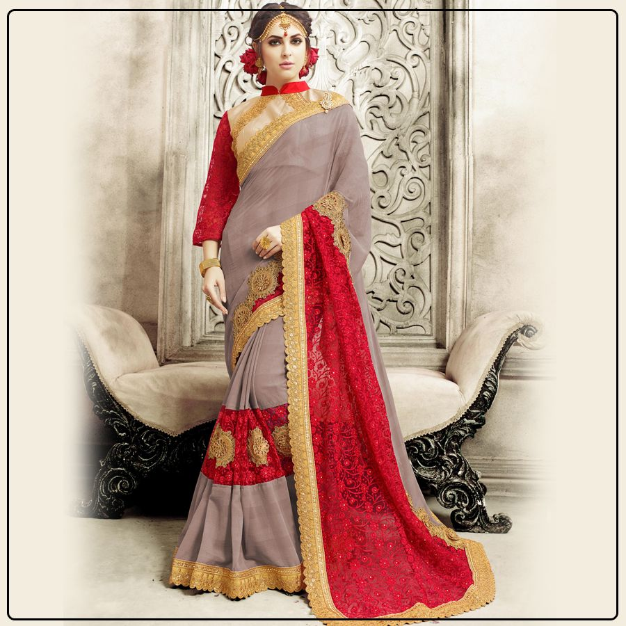 Isnut this designer saree is perfect for festive season shop now