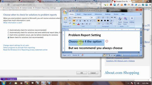 Stop Windows  Error Reporting  Laptop Computer Science And