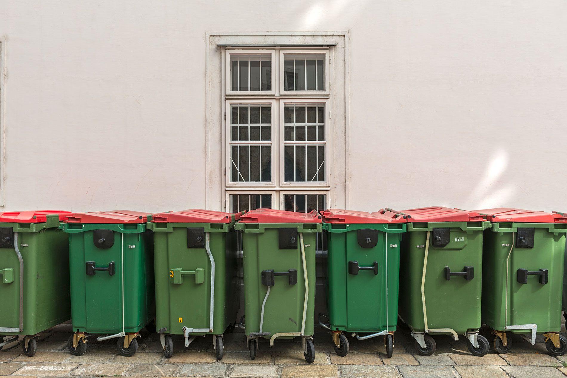 Contenedores de basura en Viena