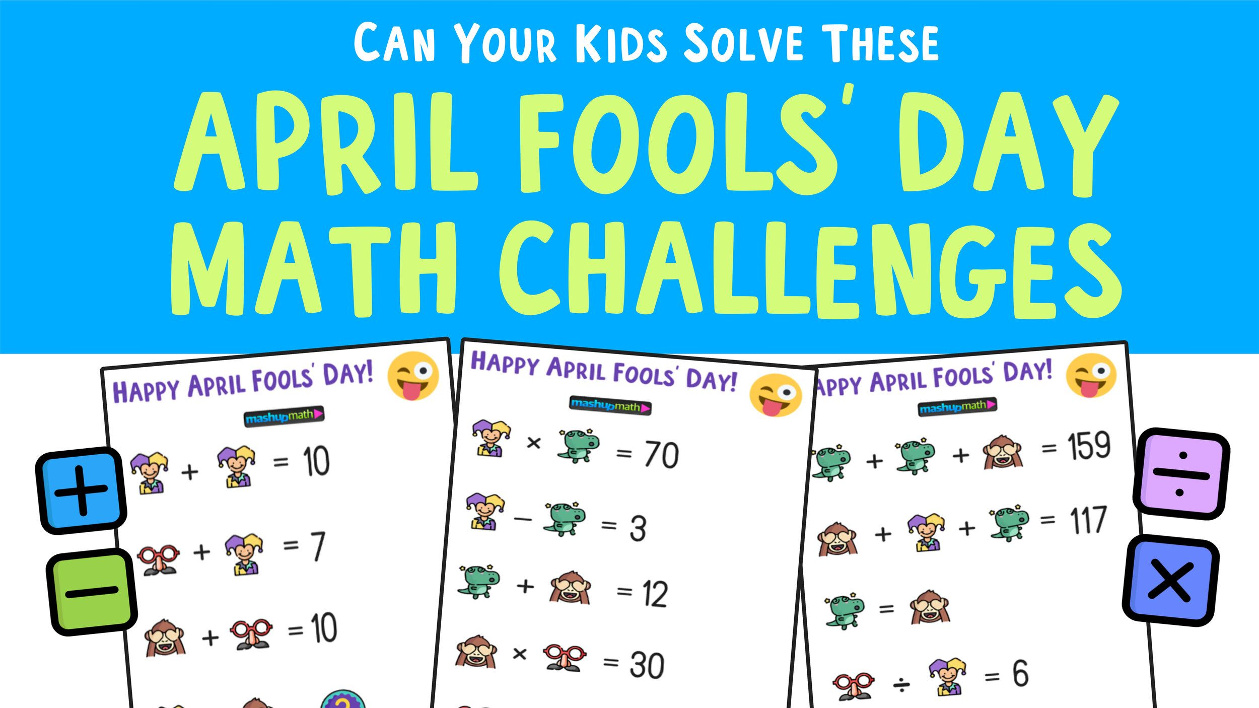 April Fools Day Math Puzzle For Grades 1 6 Mashup Math Maths Puzzles Free Math Math [ 1406 x 2500 Pixel ]