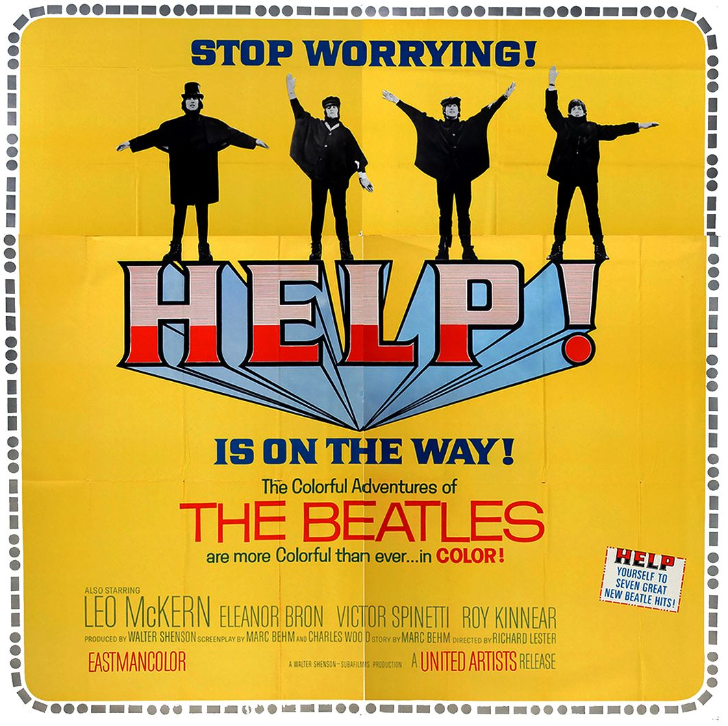 The Beatles - Help! (Advertise Movie Poster 1965)