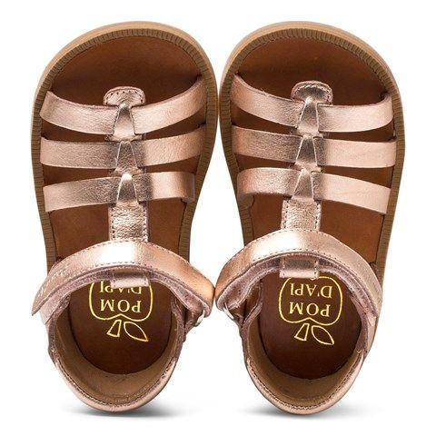 929538767e71 Pom D api Rose Gold Poppy Strap Velcro Sandals