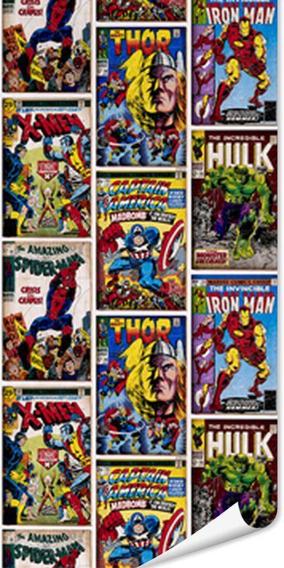 Papier peint heros marvel coloris multicolore chambre enfant chambre super heros h ros et - Deco chambre super heros ...