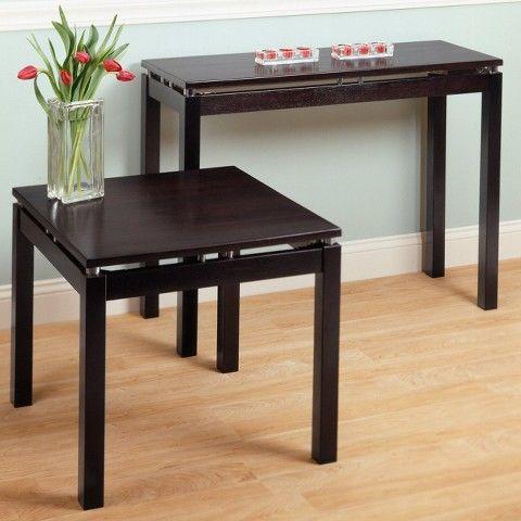 Linea Console Table Dark Espresso   Winsome