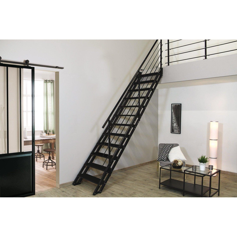 Escalier Droit Structure Acier Marche Acier Home Decor Home Stairs