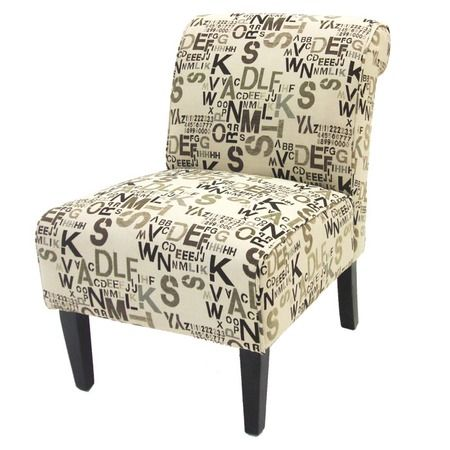 I pinned this Armen Living Print Slipper Chair from the ...