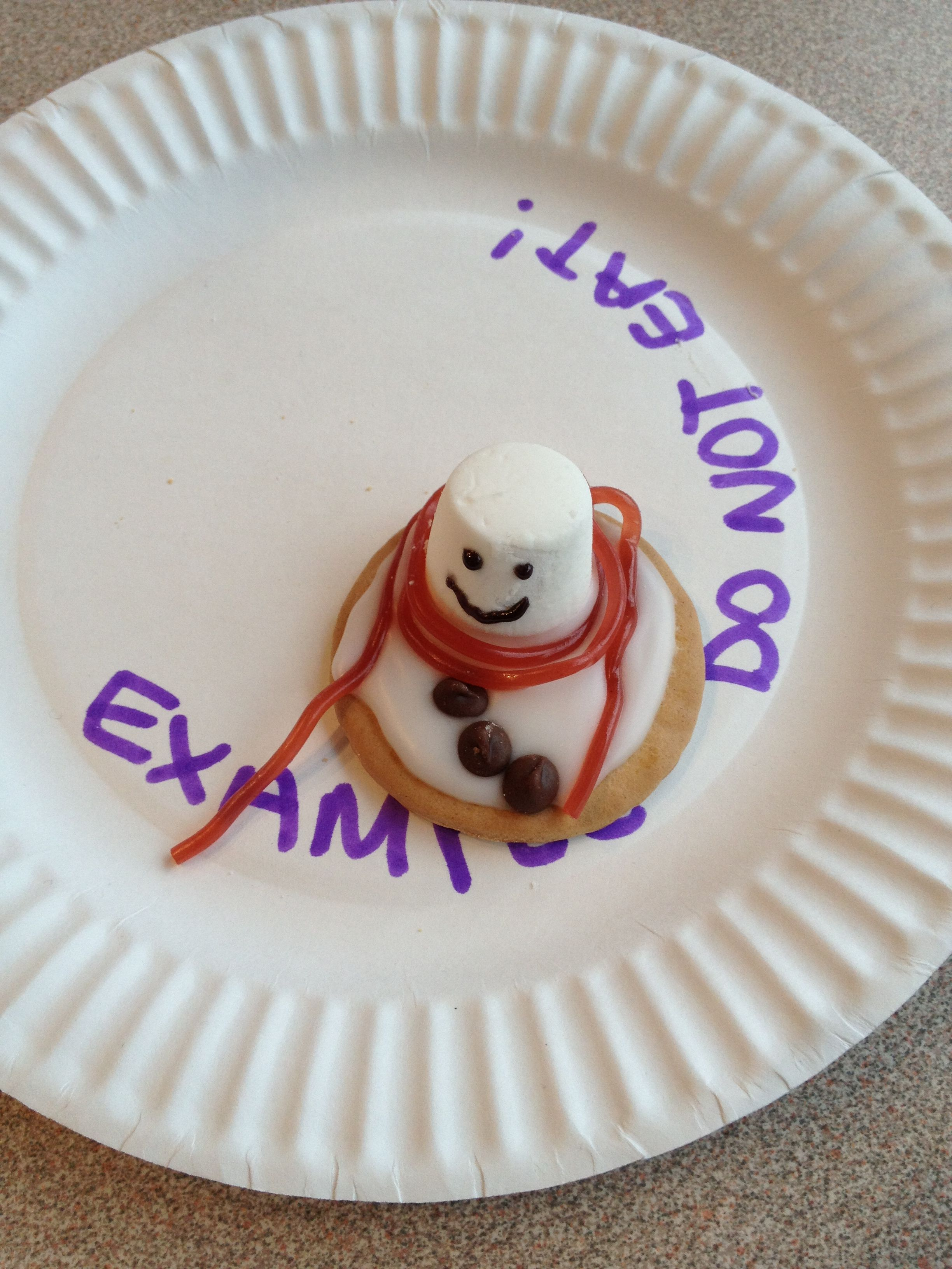 Melted snowman biscuits Paper plate x 1 each Rich tea biscuits - 0.23/pack & Melted snowman biscuits: Paper plate x 1 each Rich tea biscuits ...