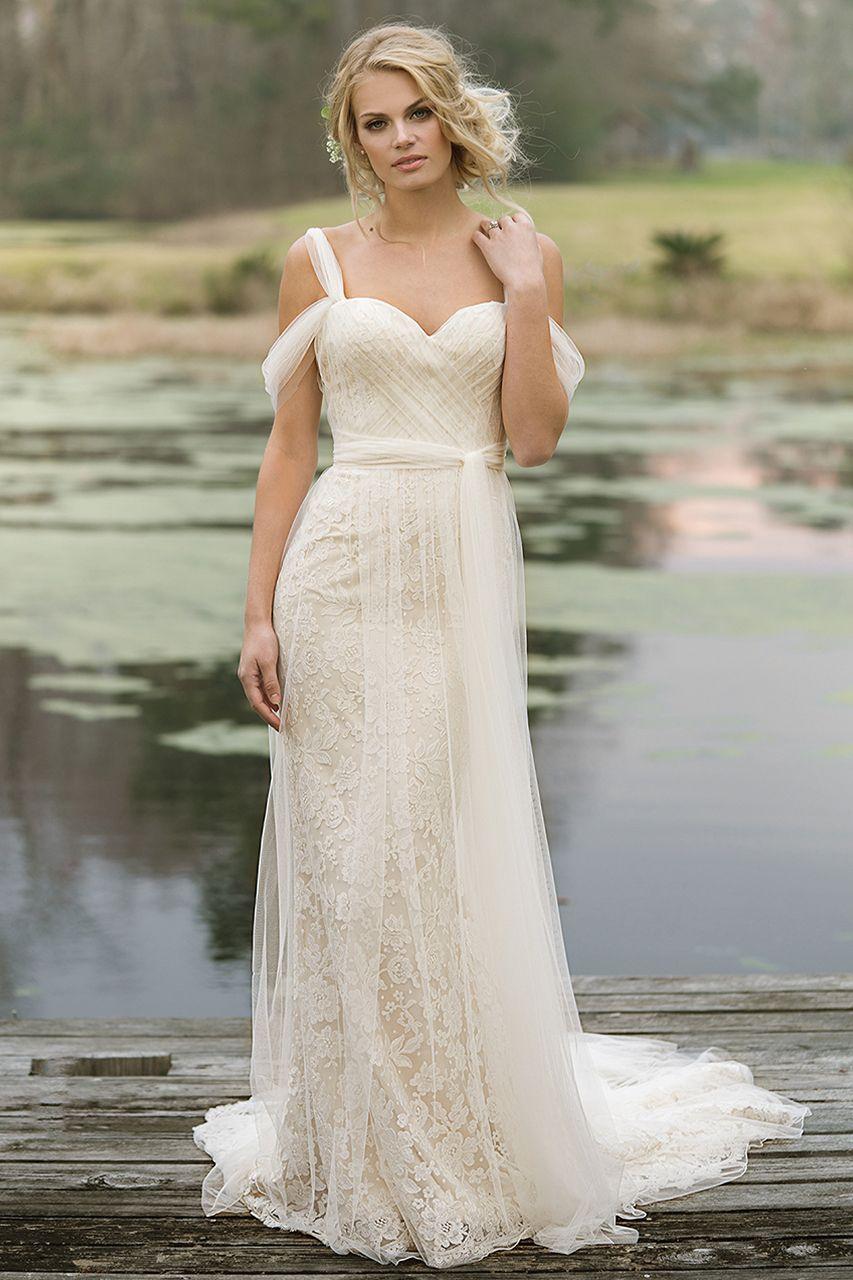 Wedding Gown By Lillian West Weddingdress Weddinggown Bridal Cold Shoulder Wedding Dress Column Wedding Dress Lillian West Wedding Dress