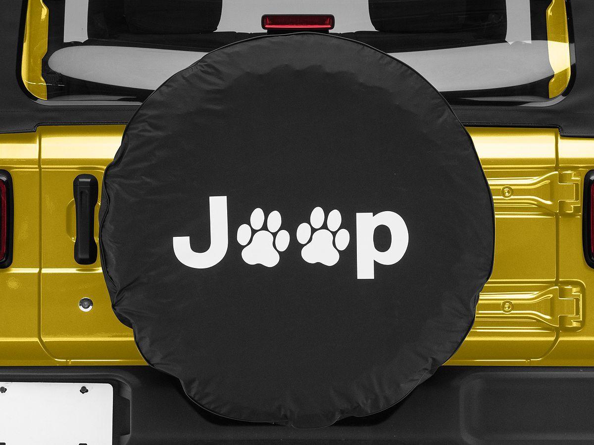 Jeep Paw Spare Tire Cover Black 87 20 Jeep Wrangler Yj Tj Jk