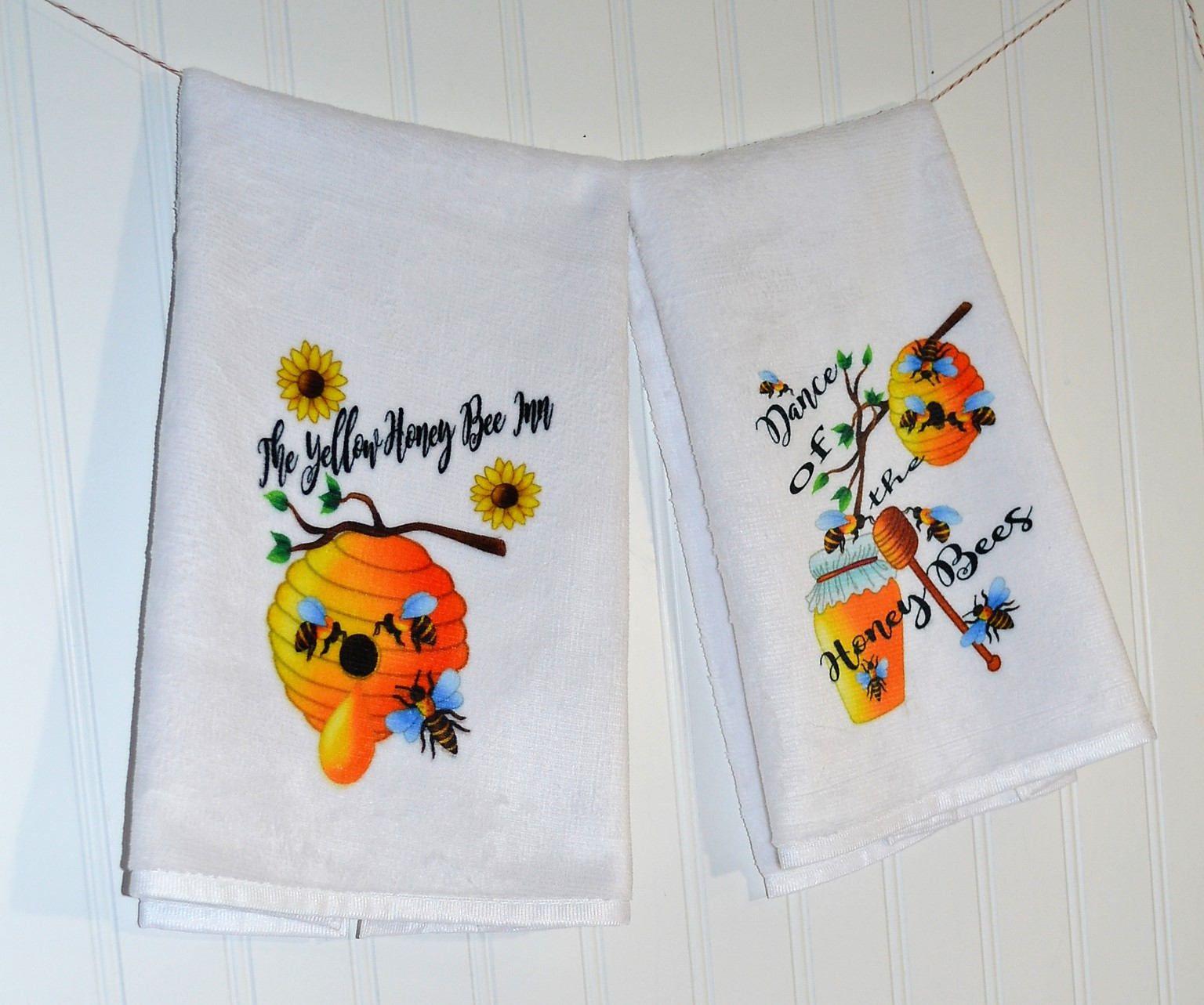 Honey Bee Kitchen Hand Towel, Dish Towel Kitchen Bumble Bee ...
