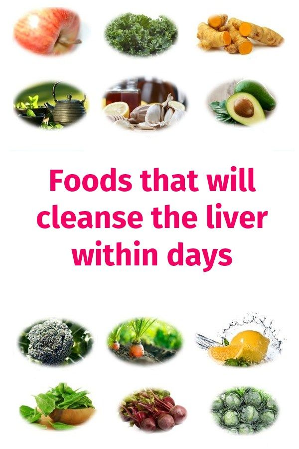 Foods that clean the liver within days ==