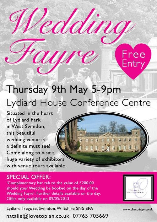 Hey guys,I'mexhibiting atanother Wedding Fair on 9th May 2013. If you'd like unique handmade silver wedding rings, I'm holding a special offer for anyone who orders them at the fair. Please come along if you need some wedding inspiration or just want a nice day out :)