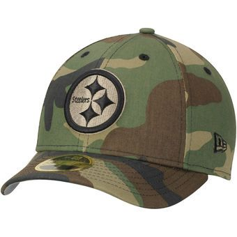 00c54c49b1f Men s Pittsburgh Steelers New Era Woodland Camo Low Profile 59FIFTY Fitted  Hat
