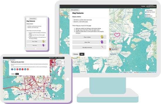 map-based questionnaire with participatory platform:maptionnaire
