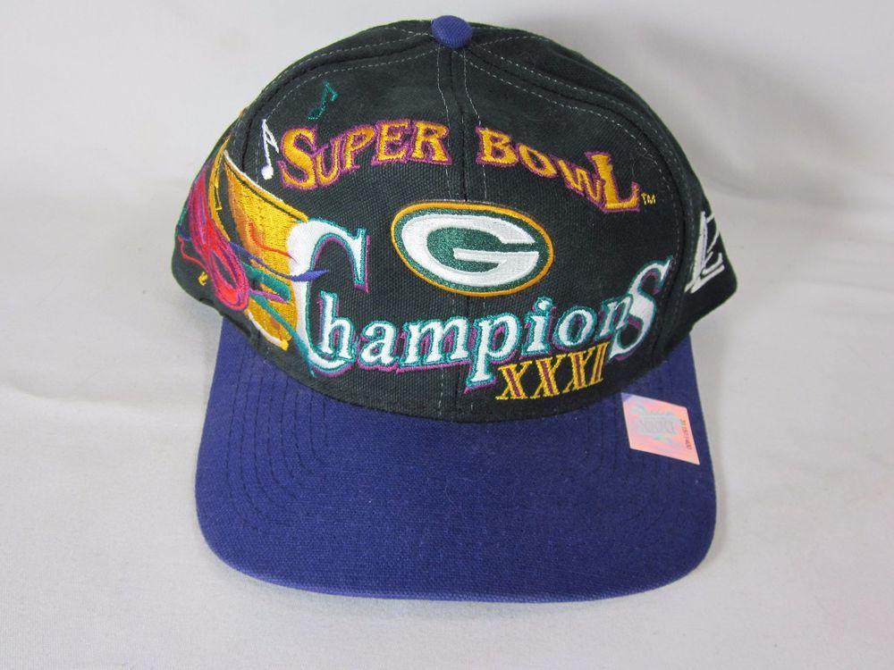 Green Bay Packers Super Bowl 31 Championship Logo Athletic Snapback Hat VTG   LogoAthletic  GreenBayPackers  872b2e9e6