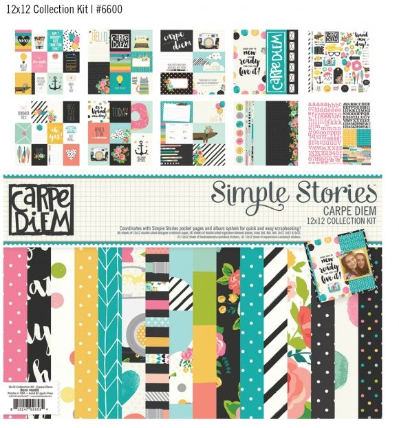 Winter 2016 Reveal Day 3 - Carpe Diem 12x12 paper collection #simplestories #CarpeDiemScrapbook