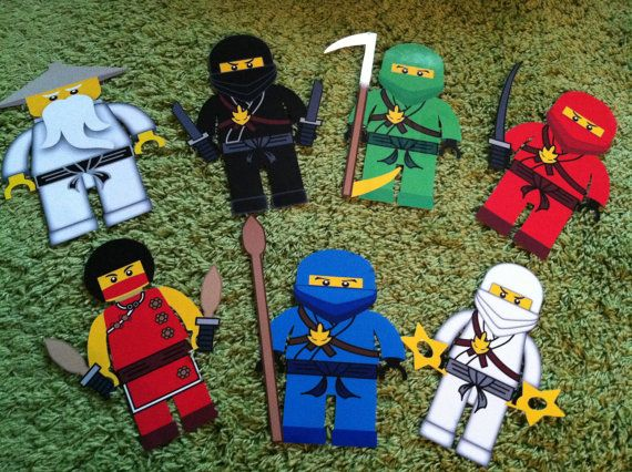 ninjago wall art cut outs or birthday or by creativelaminations