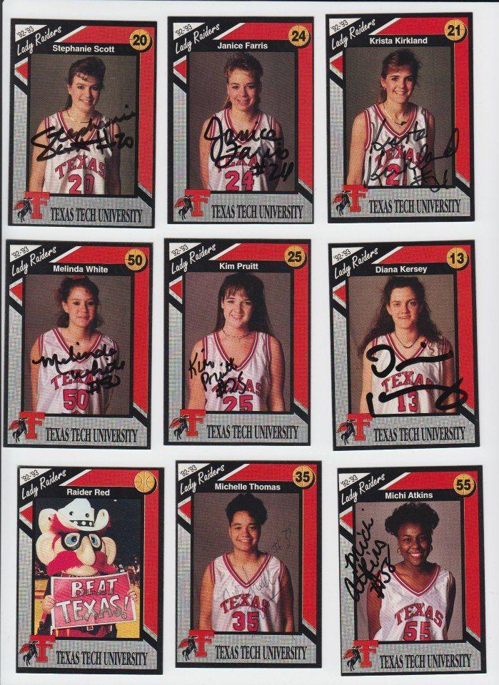 1993 Lady Raider Basketball Champions! Texas tech
