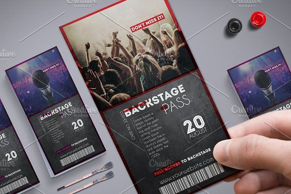Multipurpose Backstage Pass by Tzochko on @creativemarket | VIP PASS ...
