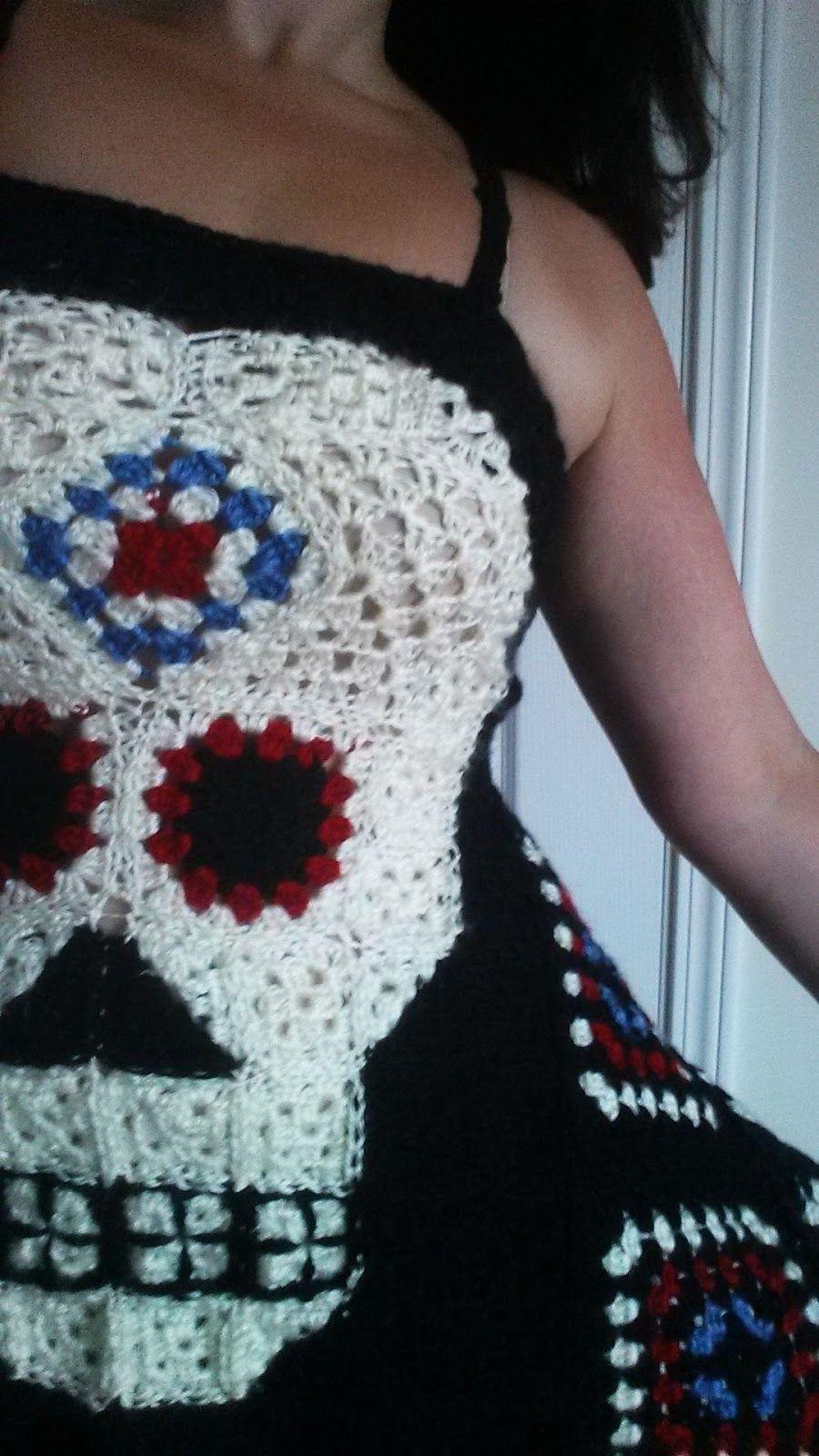 7f558ae8f8ca 365 Crochet  Sugar Granny Skull Top -free crochet pattern-
