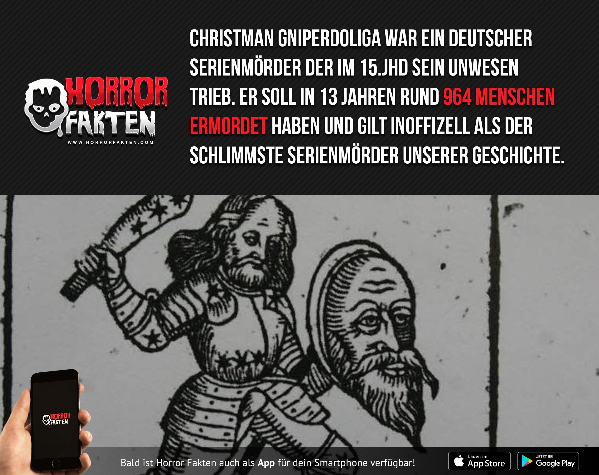 Der schlimmste inoffizielle Serienmörder unserer Geschichte Christman Gniperdoliga #historyfacts