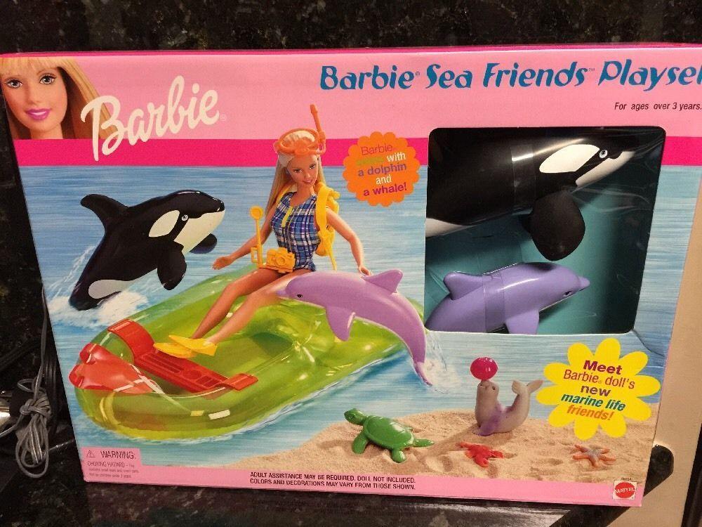 Bagno Barbie ~ Mattel ocean friends barbie doll whale a dolphin the whale gear
