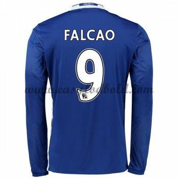 Fodboldtrøjer Premier League Chelsea 2016-17 Falcao 9 Hjemmetrøje Langærmede