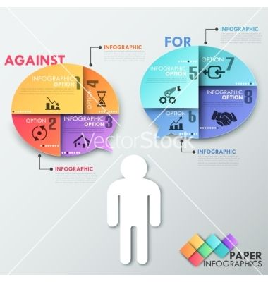 Modern infographics options banner vector by epic_fail on VectorStock®