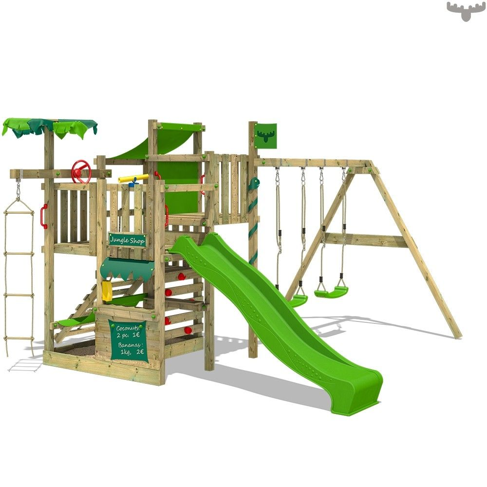 FATMOOSE climbing frame with slide CrazyCoconut Club XXL. Countless ...