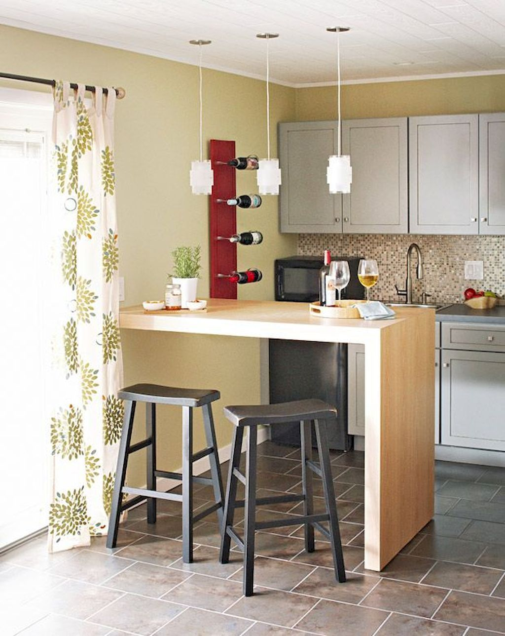 Stunning Small Island Kitchen Table Ideas   Small space ...