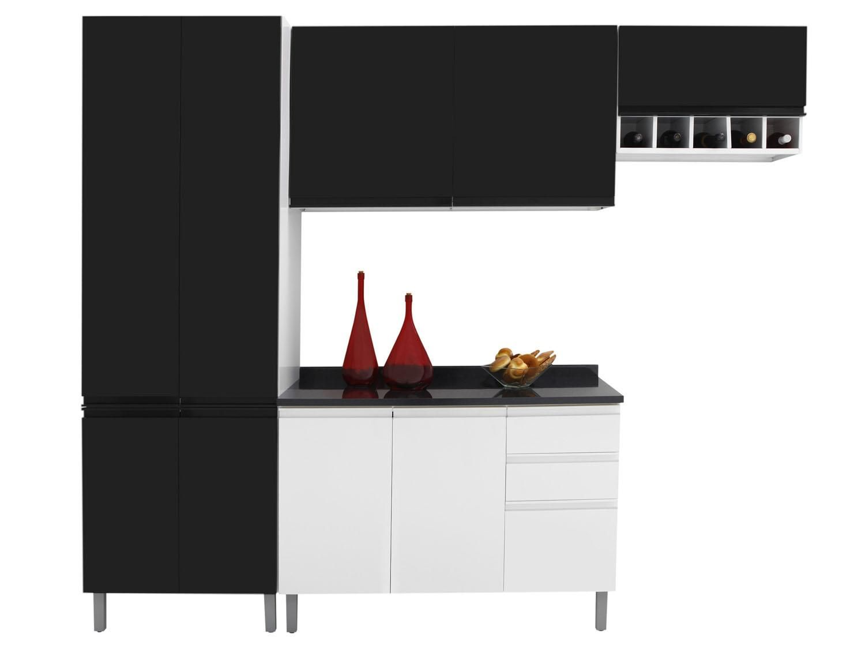 Cozinha Compacta Itatiaia Stilo Com Balc O 9 Portas 3 Gavetas A O