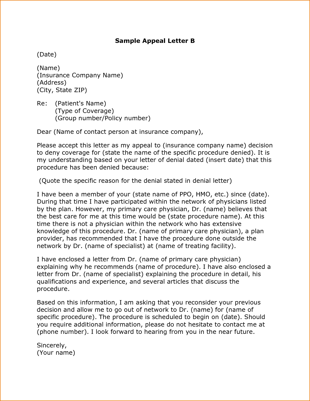 Letter Appeal Example Thelongwayupfo Sample Template Best Business