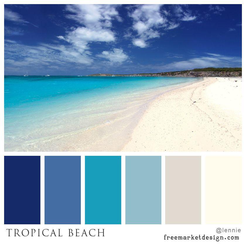 Color scheme tropical beach freemarket design color for Colors that go with ocean blue